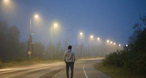 man slowly walking