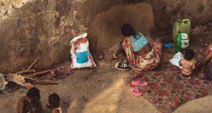 Mother prepares food